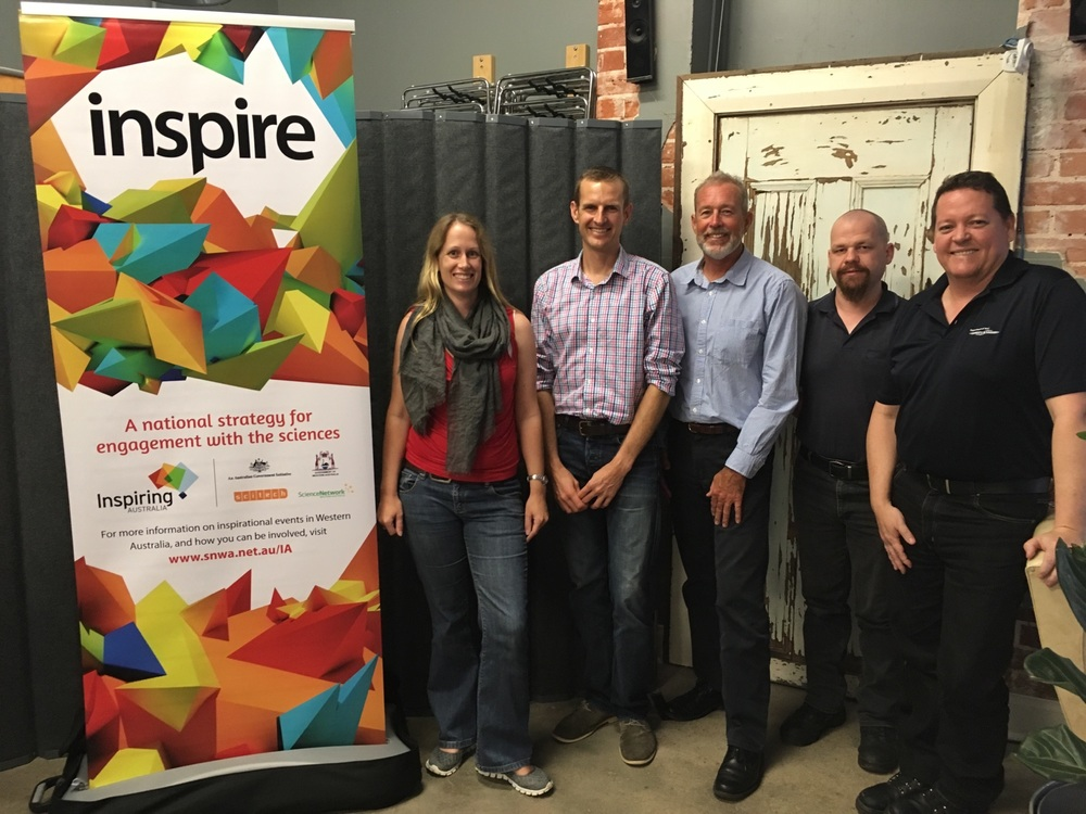 Members of Scinapse - Emma Jackson, Andrew Outhwaite, John Gourley, Ken Lawson and Mark Canny.