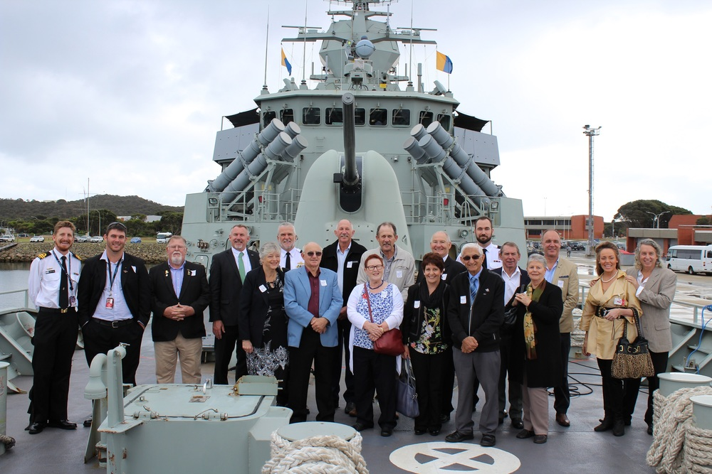Paul Brown MP and guests aboard the HMAS Perth