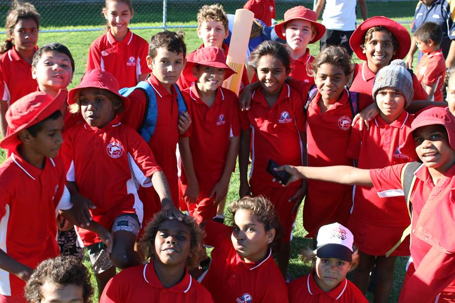 Children at Bluff Point Primary School enjoying the after school Cricket Skills program.