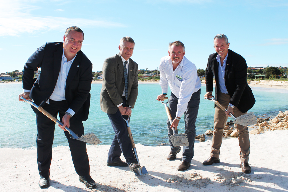 City of Greater Geraldton Mayor Shane Van Styn, Ian Blayney MLA, Paul Brown MLC and Minister Terry Redman.