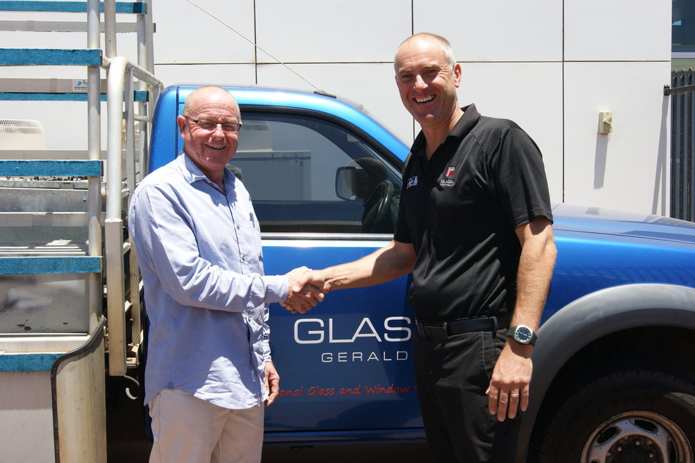 Todd West (CEO Glass Co WA) & Wayne Wickham (Director Dongara Glass)