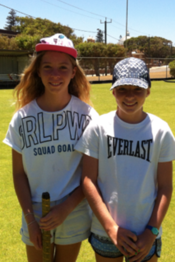 Abby Hennighan and Sophie McQuie – after a 'good fun' game!.png