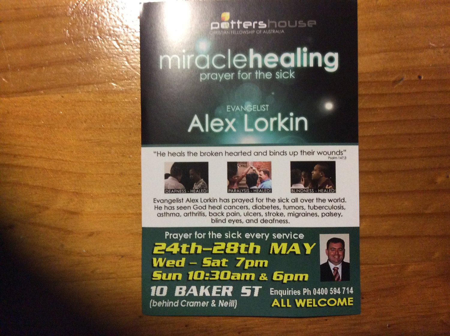 Miracle Healing - Prayer for the sick - Everything Geraldton