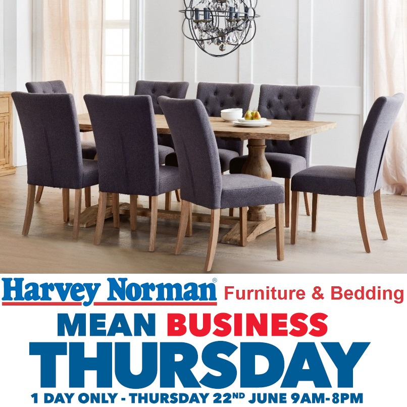 Harvey Norman Furniture Means Business This Thursday!   Everything Geraldton