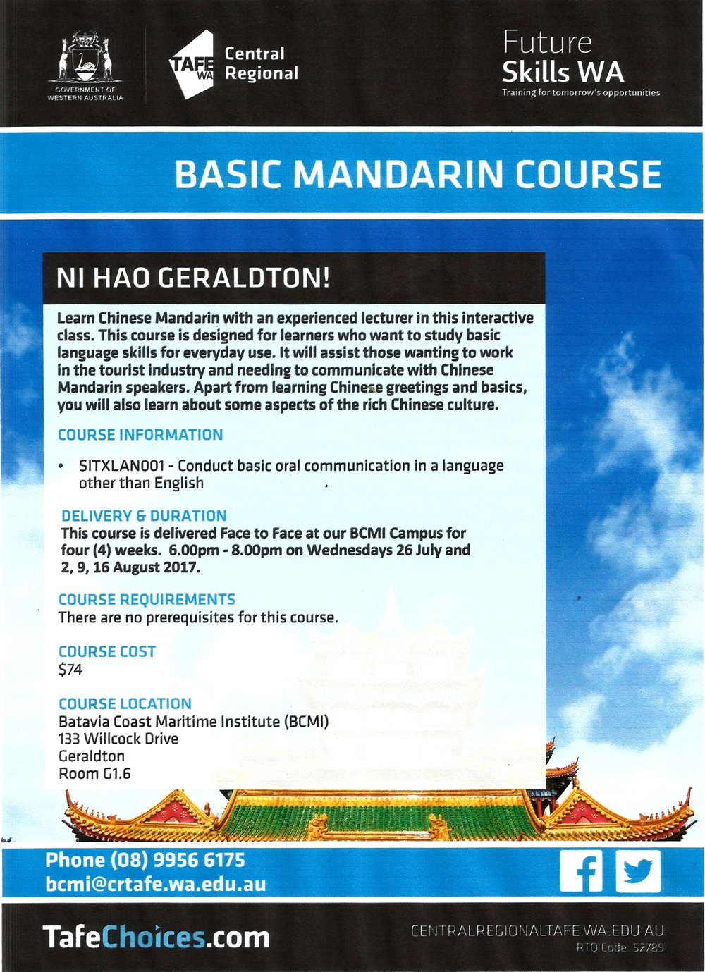 Basic Mandarin Course Everything Geraldton