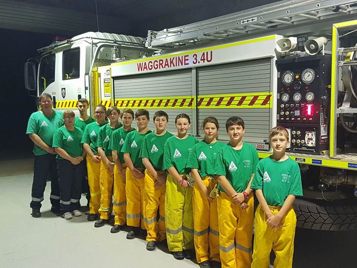 The Waggrakine Volunteer Bushfire Brigade Cadets are representing the state at the Australian Fire Cadet Championships in October and are raising funds to help get them there.