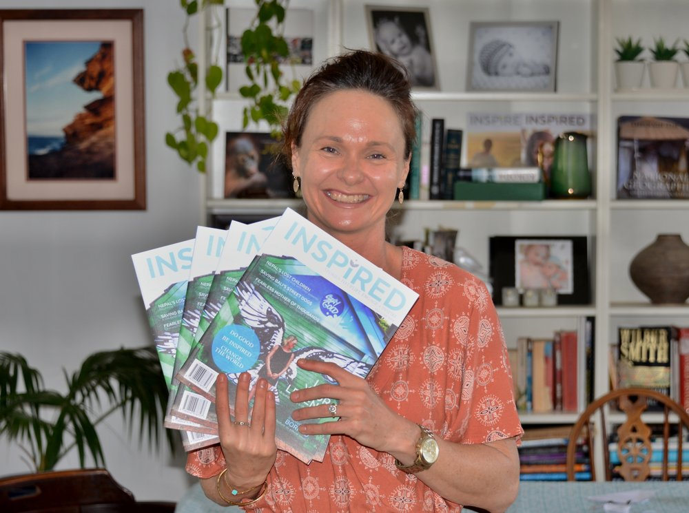 Inspired Magazine founder Samille Mitchell with the latest issue of the magazine hot off the press.