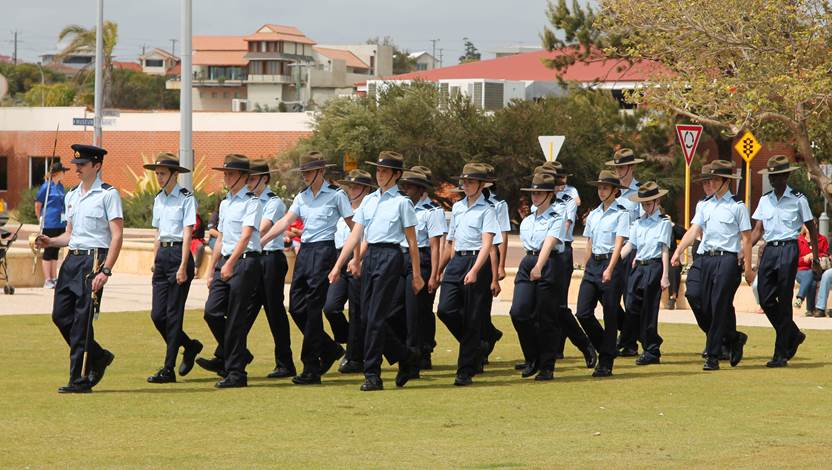 The 711 Squadron Australian Air Force Cadets have received Freedom of Entry to the City.