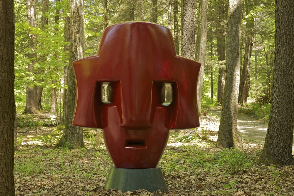 Two-Sided Head by Peter DeCamp Haines, #4 on the walking map