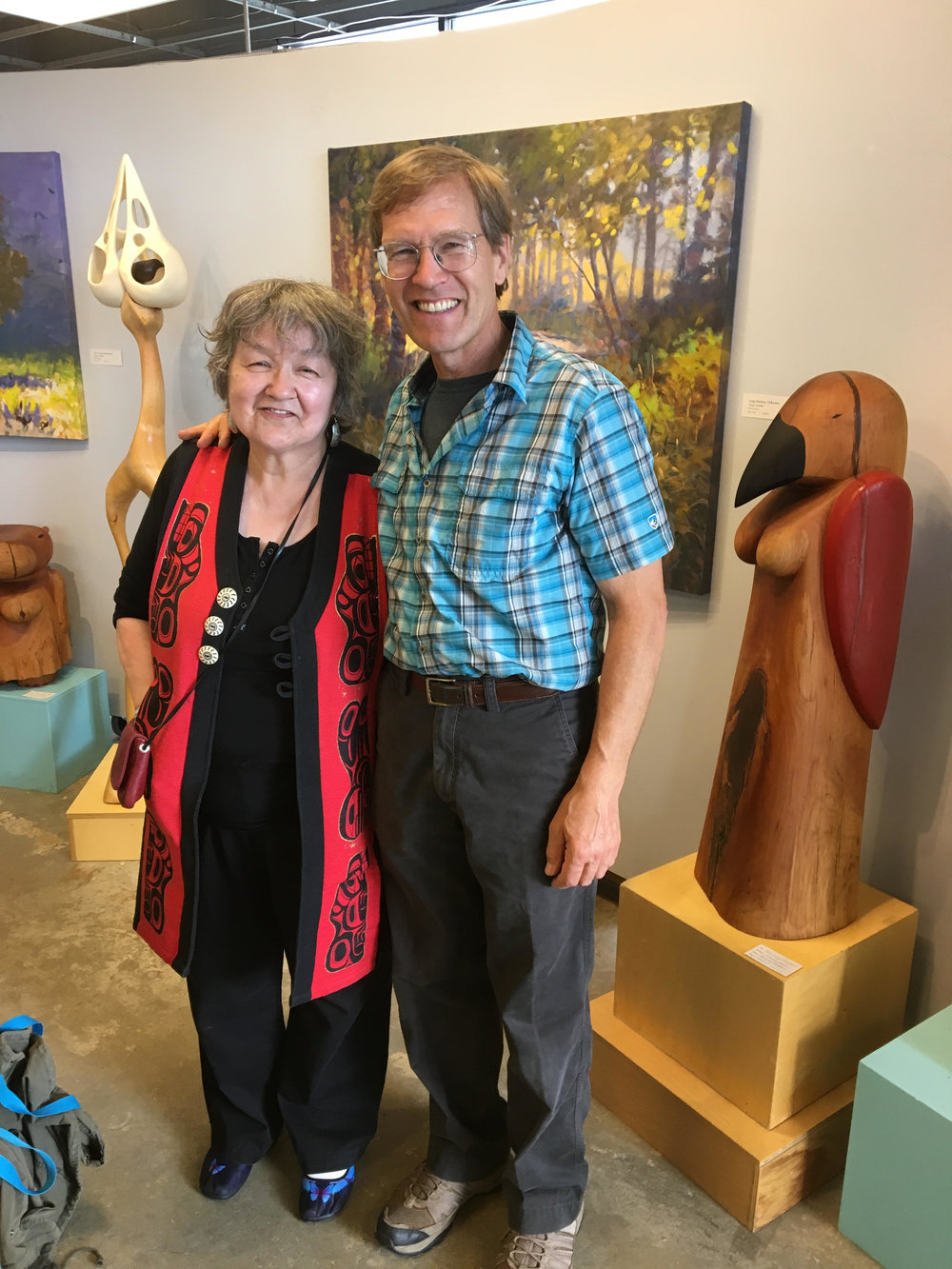 Alaska Writer Laureate Ernestine Hayes with Andy Moerlein