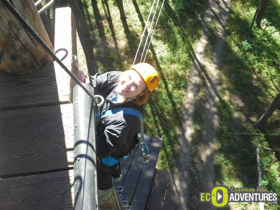Ziplining at Cypress Hills