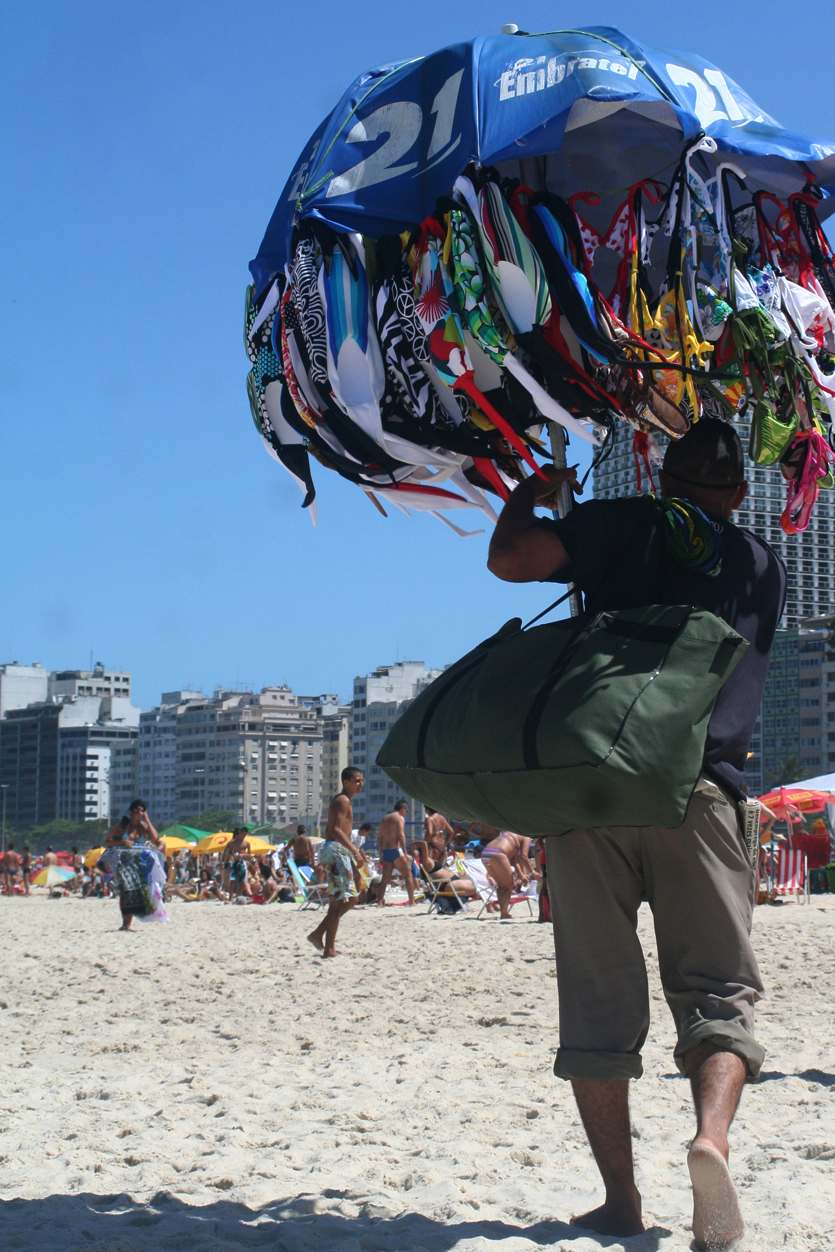 Under my umbrella - Copacabana Beach, Brazil