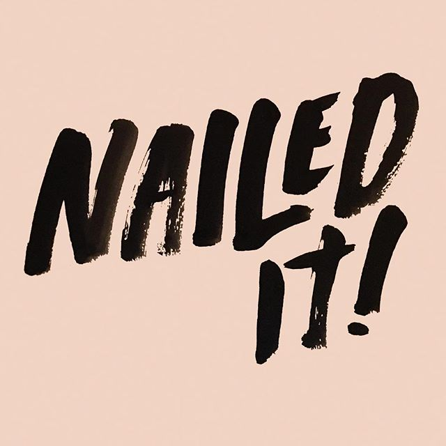 Nailed it! for @shoreditchnails #calligraphy #brushlettering #typography