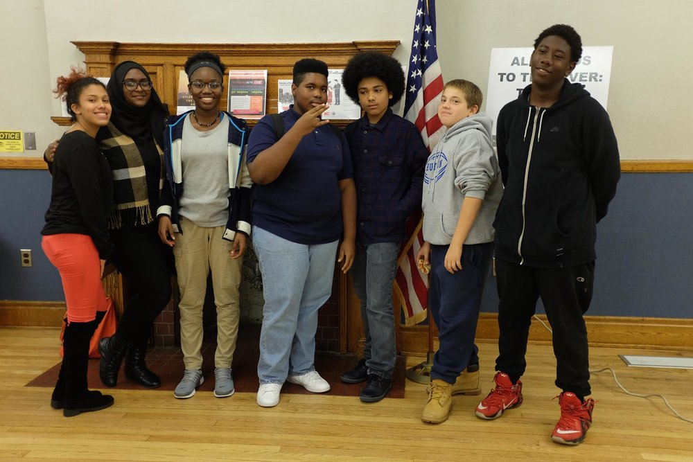 Our Youth Advisory Board: Monique Rivera, Jasmin Ahmed, Melina Hayes, Pierre Rice, Trevor Slowinski, Steven Kritzman, and Adonis Ragland. Not pictured: Irlande Louis.