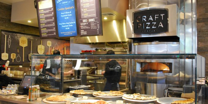 Chef Chad White has been keeping very busy between hisPlancha Baja Medpop-ups,La Justinagastro bar in Tijuana and other projects on the horizon. His latest offering to the Southern California culinary landscape isCraft Pizza Companyat UTC's food terrace. Pizza is far from new to the mall scene but this grab-and-go has truly novel offerings: artisan pizzas using organic, farm-fresh ingredients. Here's what you need to know. The Pizza:Traditional favorites like cheese, margherita and pepperoni pizza are served alongside standouts like carnitas pizza (roasted pork, red onions, cilantro, poblano chilis), truffle pizza (roasted garlic and mushroom, Aleppo pepper, and truffle honey) and Bianca pizza (mozzarella, tomatoes, Anaheim chiles, red onion, mushrooms and spinach). Gluten-free crust is offered. The Drinks:No run-of-the-mill sodas here. On tap is Orange County's Batch Craft Sodausing natural ingredients and pure cane sugar. The Price:Slices start at $3.49 for cheese and $3.69 for everything else. Whole pizzas are also available. The Details:Open every day 10 AM - 9 PM. Delivery in the La Jolla area is planned. 4525 La Jolla Village Dr., La Jolla; 858-550-599