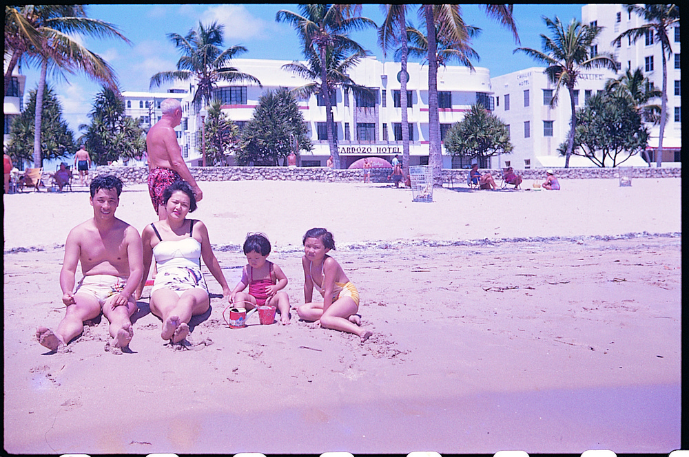 At the Beach, 1950s