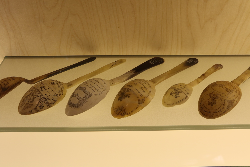 Love token spoons at the Volkskunde Museum in Salzburg