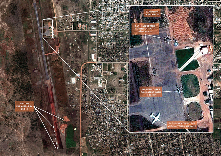 Recent Expansion of SAF-Controlled Airbase Imagery date: 24 Oct 2011 | Report date: 14 Nov 2011 Imagery source: DigitalGlobe Location: Ad-Damazin, Blue Nile, Sudan