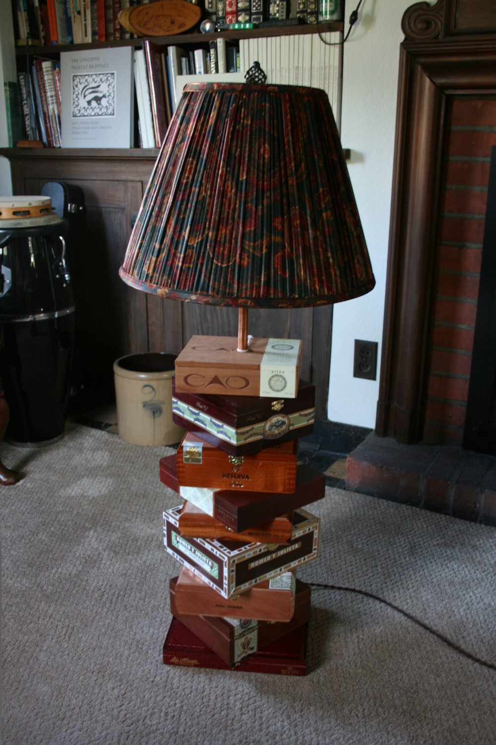 Cigar Box Lamp 7