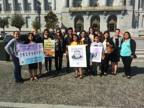 Pangea Team supports access to counsel initiative (City Hall, Sept. 2014)