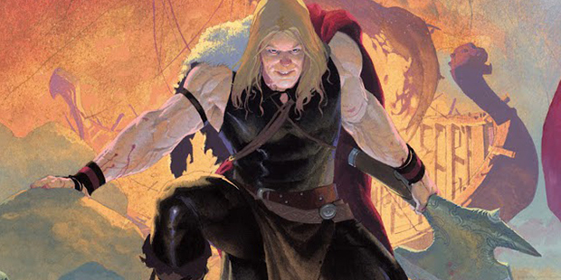 Cover detail from  Thor: God of Thunder  #2, art by Esad Ribic. Marvel Comics.
