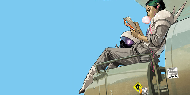 Cover detail from  Saga  #8, art by Fiona Staples. Brian K. Vaughn & FIona Staples/Image Comics.