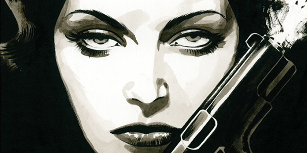 Cover detail from  Fatale  #1, art by Sean Phillips. Ed Brubaker & Sean Phillips/Image Comics.