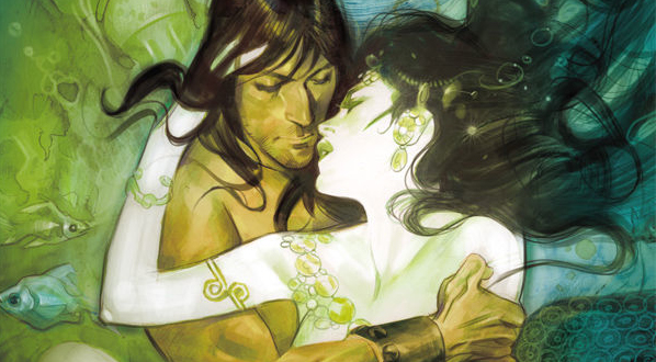 Cover art detail from  Conan  #3 by Massimo Carnevale, collected in  Conan  Vol. 13. Dark Horse Comics.