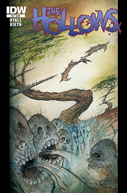 The Hollows #2, cover art by Sam Kieth. Sam Kieth & Chris Ryall/IDW Publishing.