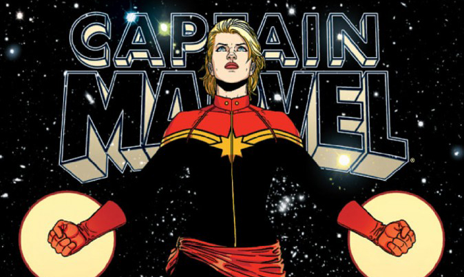 Cover detail from Captain Marvel #9, art by Jamie McKelvie. Marvel Comics.