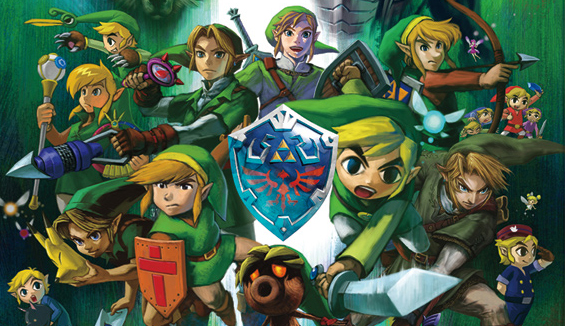Artwork from  The Legend of Zelda: Hyrule Historia , published by Dark Horse Comics.