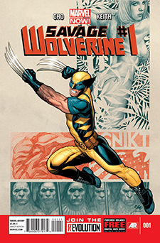 Cover to  Savage Wolverine  #1, art by Frank Cho. Marvel Comics.