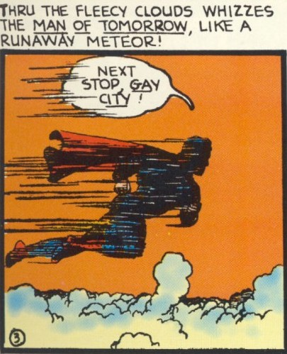 Art detail from Superman #7, art by Joe Shuster. DC Comics.