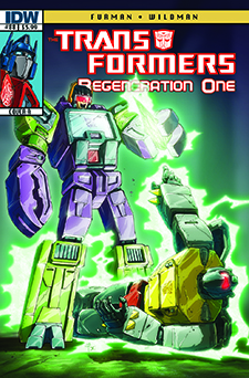 Covert art for  Transformers Regeneration One  #88, art by Andrew Wildman. Hasbro/IDW Publishing.