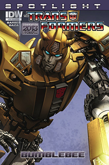 Variant cover for  Transformers Spotlight: Bumblebee , art by Clayton Crain. Hasbro/IDW Publishing.