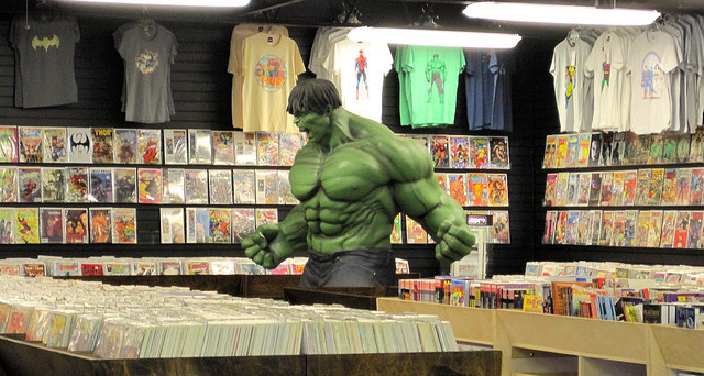 "The interior of Austin Books & Comics. Photo by Flickr user ""Austin Otaku."""