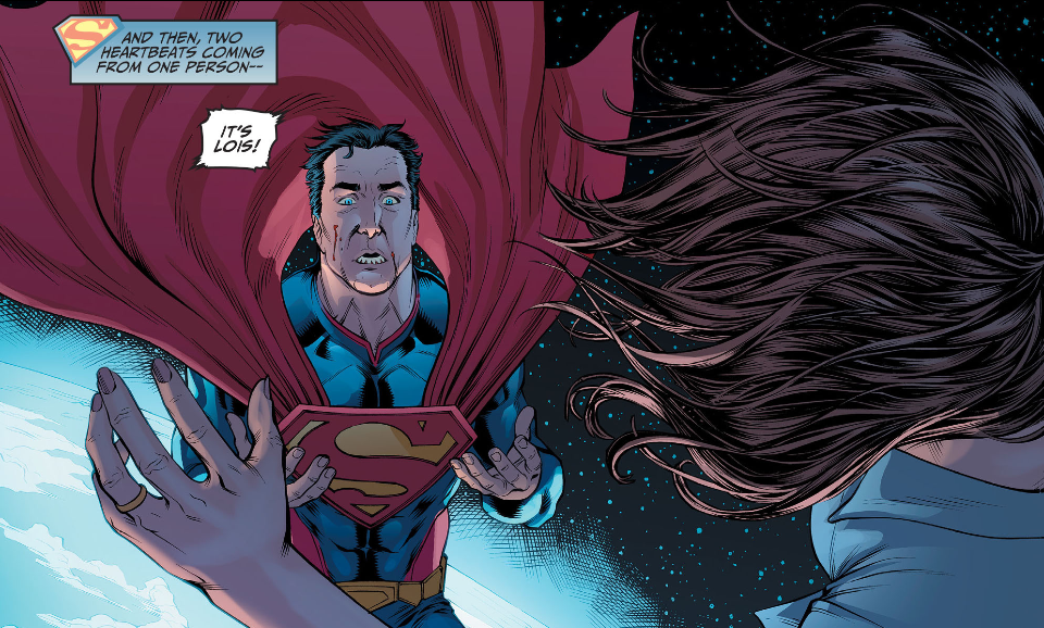 Panel detail from Injustice: Gods Among Us #3, art by Mike Miller. DC Comics.