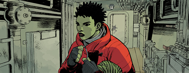 Panel detail from  The Massive  Vol. 1, art by Kristian Donaldson. Brian Wood/Dark Horse Comics.