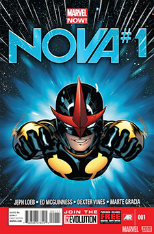 Cover for  Nova  #1, art by Ed MCGuiness. Marvel Comics.
