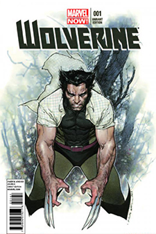 Variant cover for  Wolverine  #1, art by Oliver Copiel. Marvel Comics.
