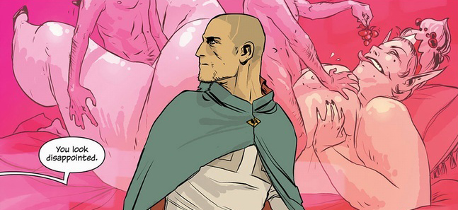 Panel detail from  Saga  #5, art by Fiona Staples. Vaughn & Staples/Image Comics.