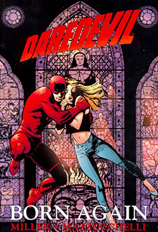 Cover for  Daredevil: Born Again  TPB, art by David Mazzucchelli. Marvel Comics.