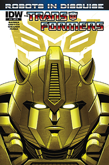 Variant cover for  Transformers: Robots in Disguise  #16. Hasbro/IDW.