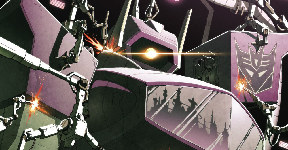 Variant cover detail to  Transformers: Robots in Disguise  #17. Hasbro/IDW.