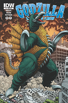 Variant cover for  Godzilla: Rulers of the Earth  #1, art by Art Adams. IDW Publishing.
