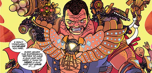 Panel detail from  Catalyst Comix  #1, art by Ulises Farinas. Dark Horse Comics.