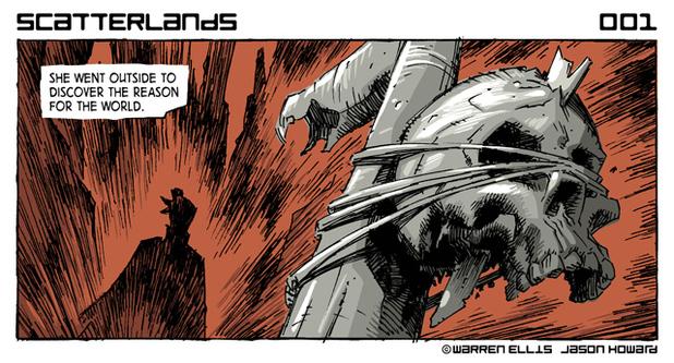 Panel detail from  Scatterlands , by Warren Ellis and Jason Howard.