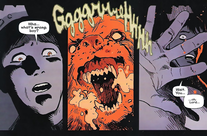 Panel detail from Afterlife With Archie, by Francesco Francavilla. Archie Comics.