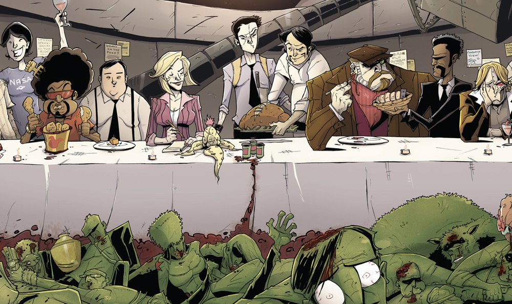 Cover detail from Chew #15. Art by Rob Guillory. Image Comics/John Layman & Rob Guillory.