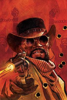 Unadorned cover for  Django/Zorro  #1, art by Massimo Carnival. DC Comics/Dynamite.